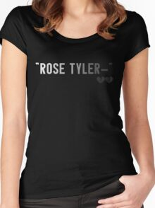 """""""Rose Tyler-"""" Women's Fitted Scoop T-Shirt"""