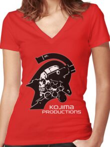 KOJIMA PRODUCTIONS - KNIGHT LOGO INDEPENDENT INDIE NEW Women's Fitted V-Neck T-Shirt