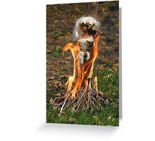 """Bad Bambi Series, #6 """"Anyone Got Any Marshmallows?""""  Greeting Card"""