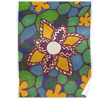 yellow flower on water Poster