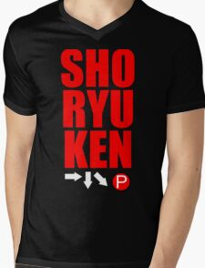 SHORYUKEN Mens V-Neck T-Shirt