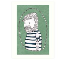 sad little sailor Art Print