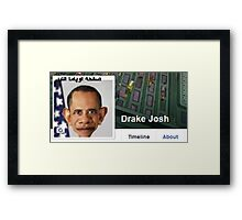 Drake Josh Framed Print