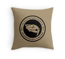 The Society of Palaeontology Fanciers (Black on Light) Throw Pillow