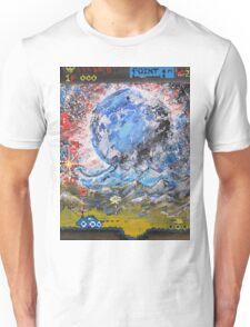 moon, retro, arcade, game Unisex T-Shirt
