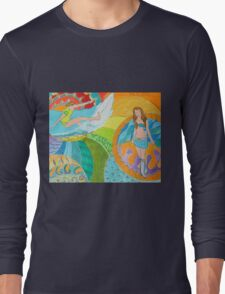 Surf Desert Off road Shirt design Long Sleeve T-Shirt