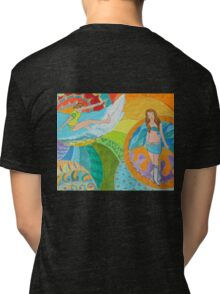Surf Desert Off road Long sleeve Shirt design woodie Tri-blend T-Shirt