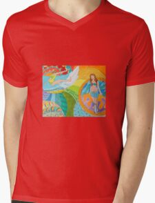 Surf Desert Off road Baseball Long sleeve Shirt design woodie Mens V-Neck T-Shirt