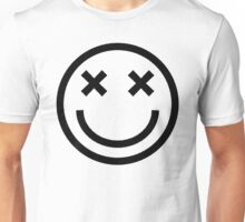 Faded Smiley - Black Unisex T-Shirt