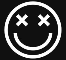 Faded Smiley - White by tumblingtshirts
