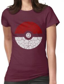 Cracked Poké Ball Womens Fitted T-Shirt