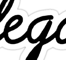 Illegal - Black Sticker