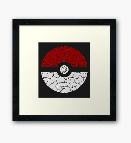 Cracked Poké Ball Framed Print