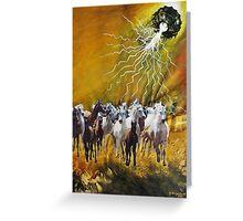 VU 17 Gallopping Horse Herd 1 Greeting Card