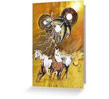 VU 18 Galopping Horse Herd 2 Greeting Card