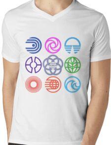 EPCOT Pavilions Mens V-Neck T-Shirt