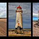 Lighthouse Triptych by Adrian Evans
