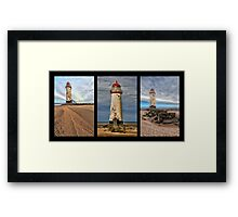 Lighthouse Triptych Framed Print