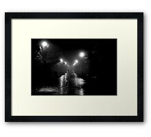 Foggy Night Edinburgh Framed Print