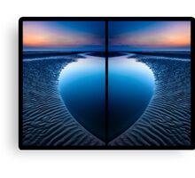 Blue Heart Beach Canvas Print