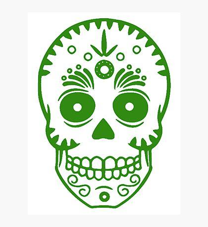 Sugar Skull 0001 Green Photographic Print