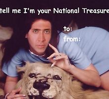 Nicolas Cage Valentines Card National Treasure by MarioGirl64