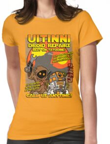 Droid repairs! Womens Fitted T-Shirt