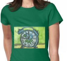 Alarm Clock In Blue Womens Fitted T-Shirt