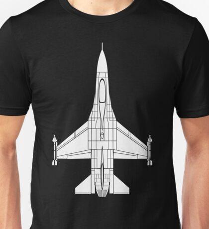 F-16 Fighting Falcon White Unisex T-Shirt