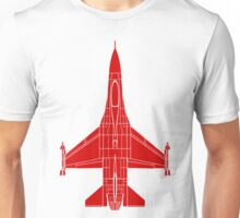 F-16 Fighting Falcon Red Unisex T-Shirt
