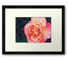 Rose Ablaze Framed Print