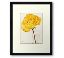 Glass Vase and Rio Samba Rose Framed Print