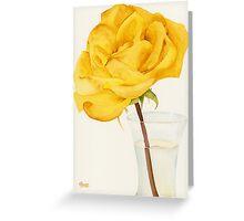 Glass Vase and Rio Samba Rose Greeting Card