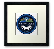 NASA Mission Video Tech Design Framed Print