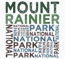 Mount Rainier National Park Kids Tee