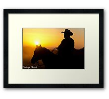 A Legend and his mate.. Framed Print