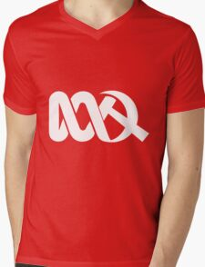 Red ABC in Reverse Mens V-Neck T-Shirt