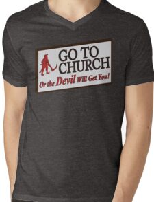 Go to Church Sign in Alabama Mens V-Neck T-Shirt