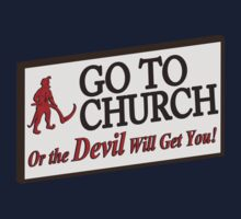 Go to Church Sign in Alabama Kids Clothes