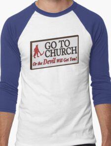 Go to Church Sign in Alabama Men's Baseball ¾ T-Shirt