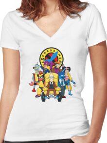 eXpress Men Women's Fitted V-Neck T-Shirt