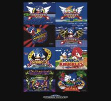 Sonic Mega Drive Title Screens (Europe Logo) Kids Clothes