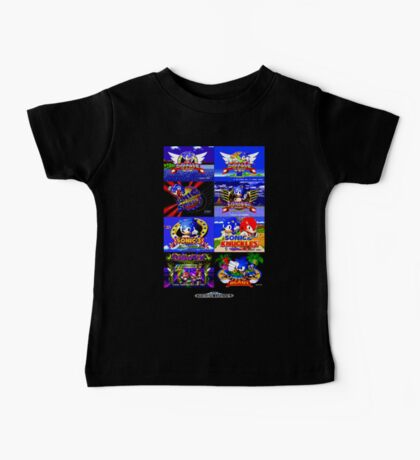 Sonic Mega Drive Title Screens (Europe Logo) Baby Tee
