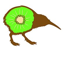 Funny Kiwi Fruit Bird Design by Style-O-Mat