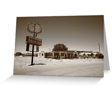 Route 66 - Abandoned Drive-In Greeting Card