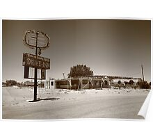 Route 66 - Abandoned Drive-In Poster