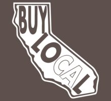 Buy Local California White print by BuyLocal