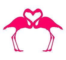 Flamingo Love Birds by Style-O-Mat
