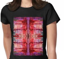 mostly red with purple bleeds Womens Fitted T-Shirt
