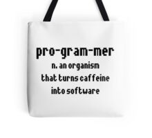 Programmer Definition Tote Bag